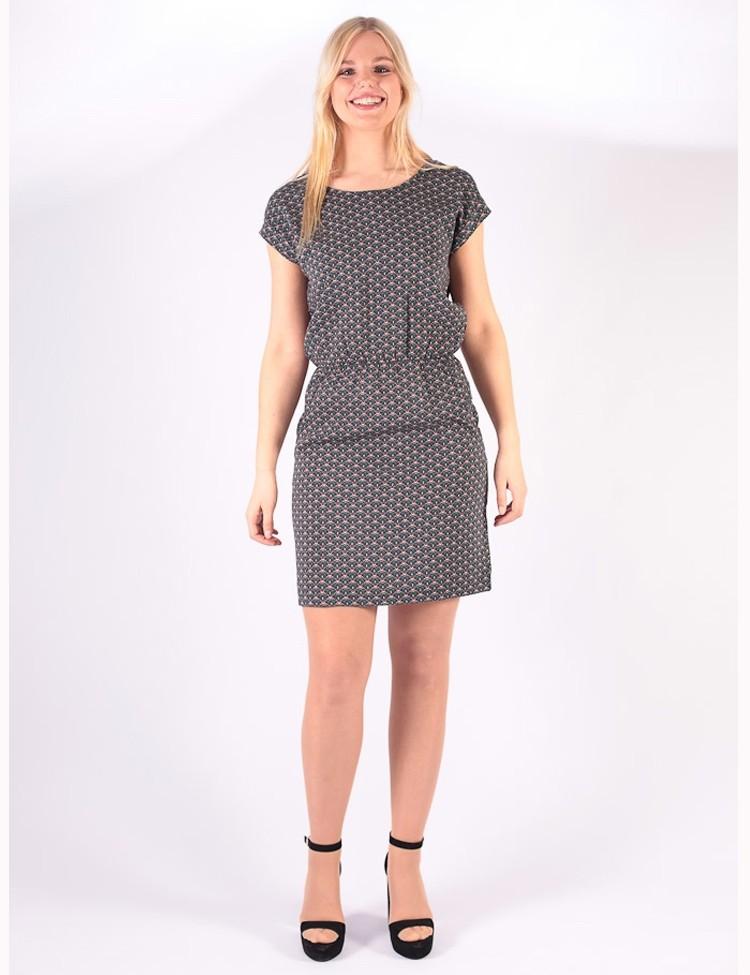 Tuniek-jurk Milou Zwart Multi