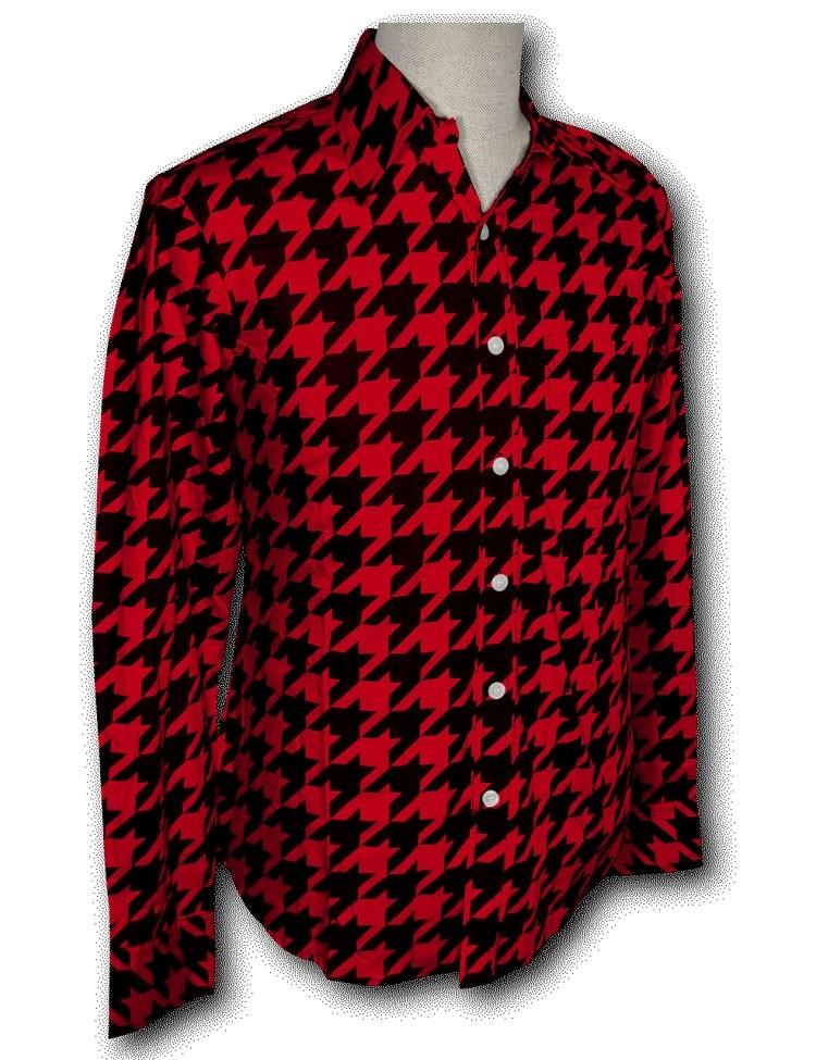 Overhemd Seventies Shinori red black