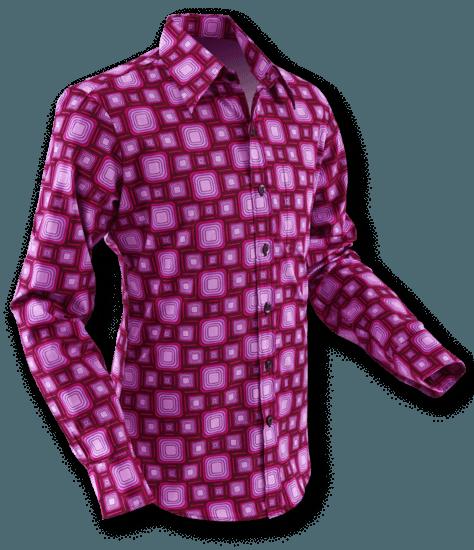 Overhemd Seventies Tube Bordeaux