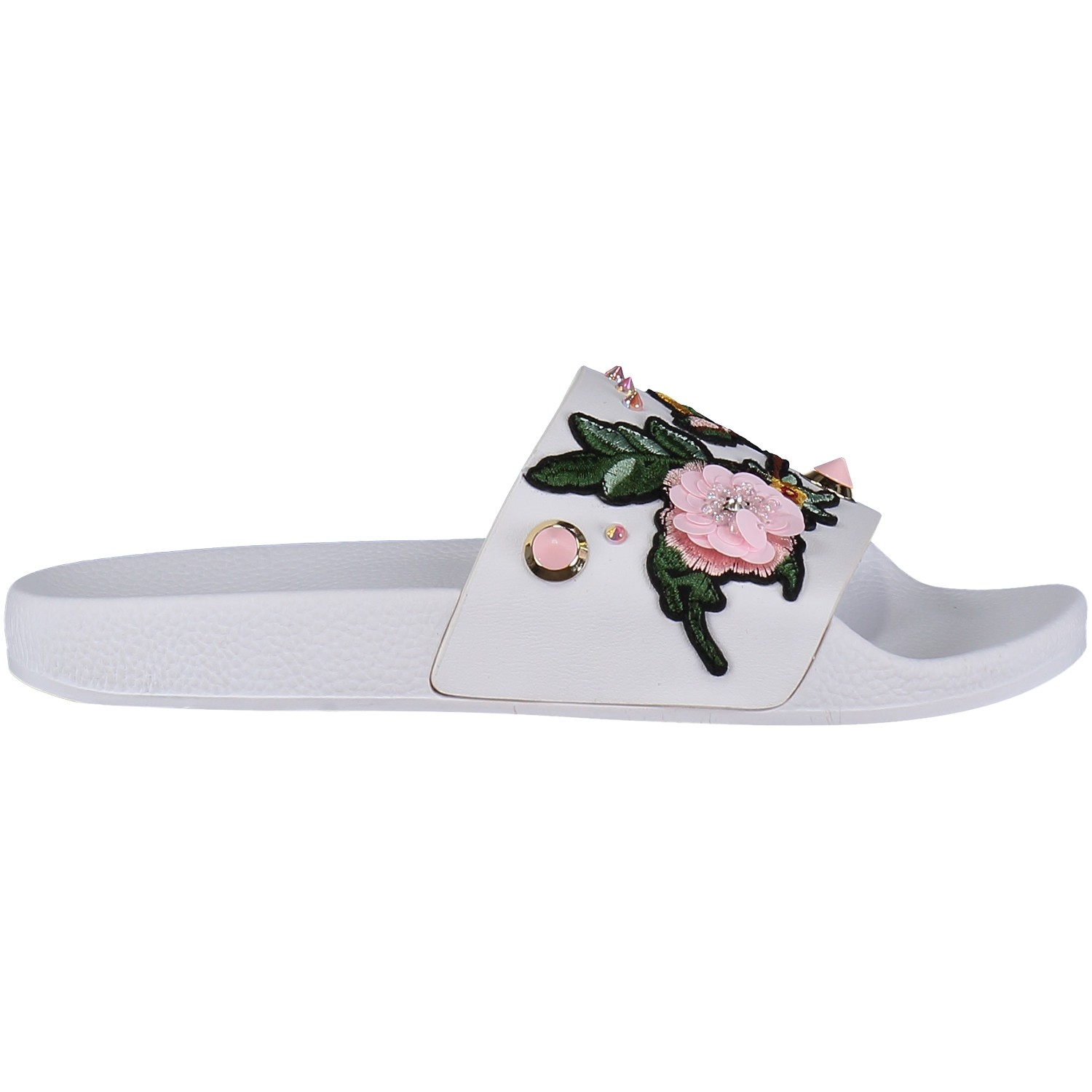 Afbeelding van The white Brand ASIAN dames slippers wit