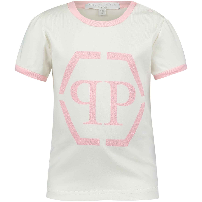 Picture of Philipp Plein CTK0003 baby shirt off white