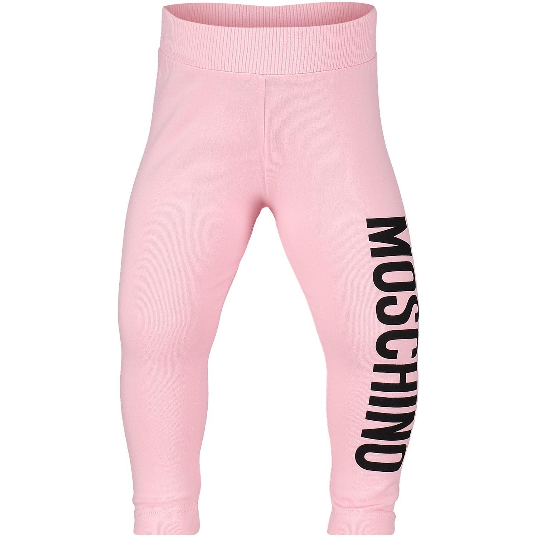 Afbeelding van Moschino MDP026 baby legging licht roze