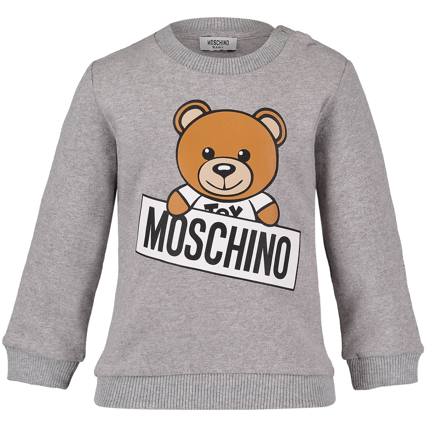 Picture of Moschino M5F00T baby sweater light gray