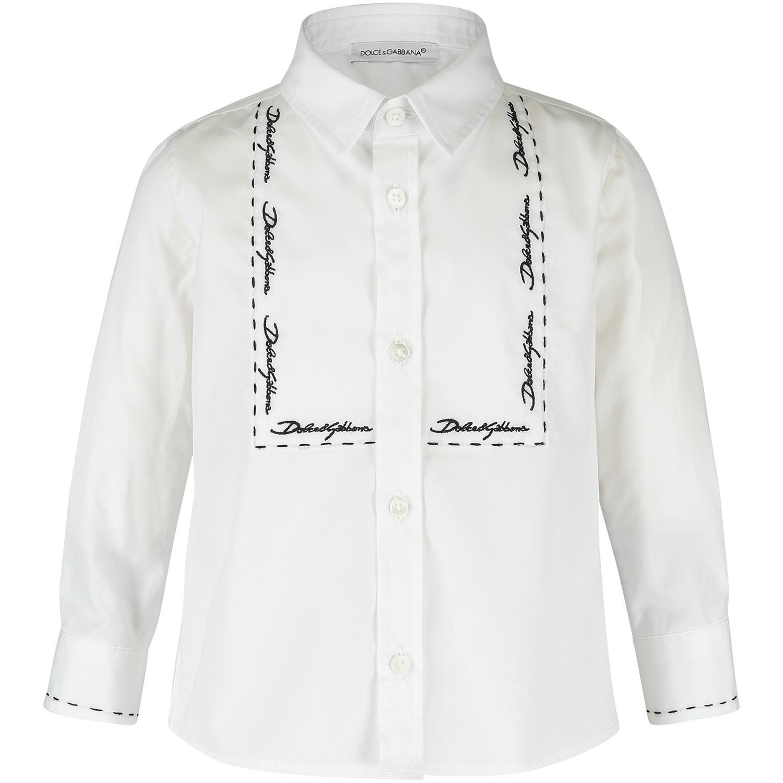 Afbeelding van Dolce & Gabbana L12S44 baby blouse wit