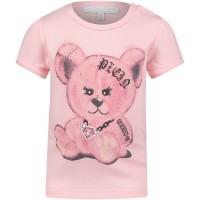 Picture of Philipp Plein CTK0002 baby shirt light pink
