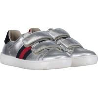 Afbeelding van Gucci 455448 DXD60 kindersneakers zilver