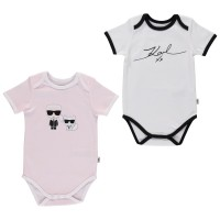 Picture of Karl Lagerfeld Z98021 kids rompersuit light pink