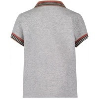 Picture of Burberry 8002858 baby poloshirt gray