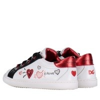 Picture of Dolce & Gabbana DN0109 AV526 kids sneakers white