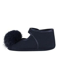 Picture of MonnaLisa 392016 baby slippers navy