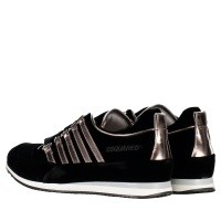 Picture of Dsquared2 57102 B kids sneakers black