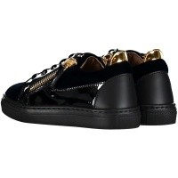 Picture of Guiseppe Zanotti SBI8102 kids sneakers navy