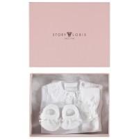 Afbeelding van Story Loris 21994 baby kadodoos rompertjes wit