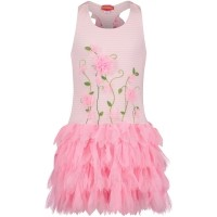 Picture of Kate Mack 636 kids dress fluoro pink