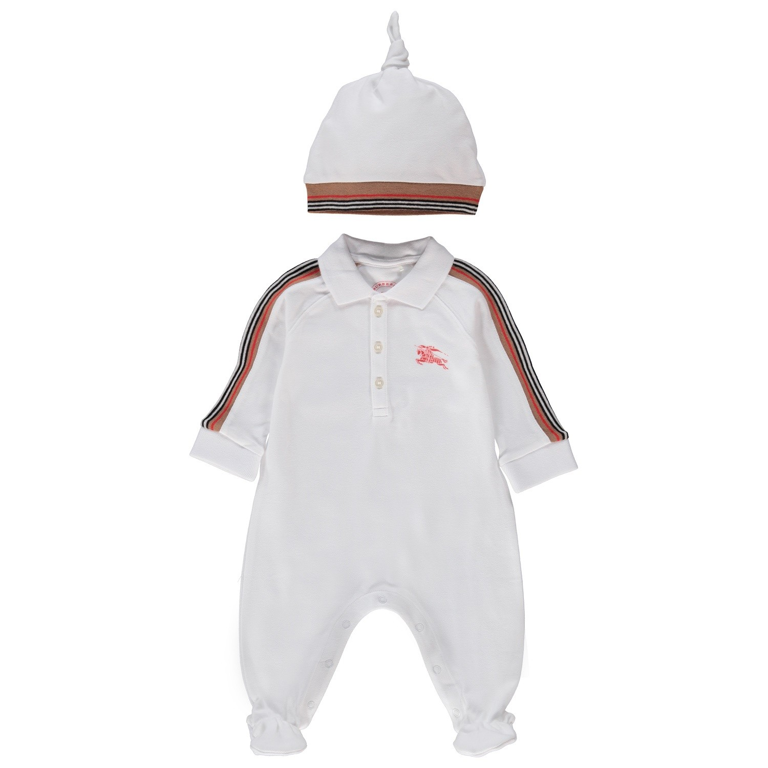 Picture of Burberry 8002951 baby playsuit white