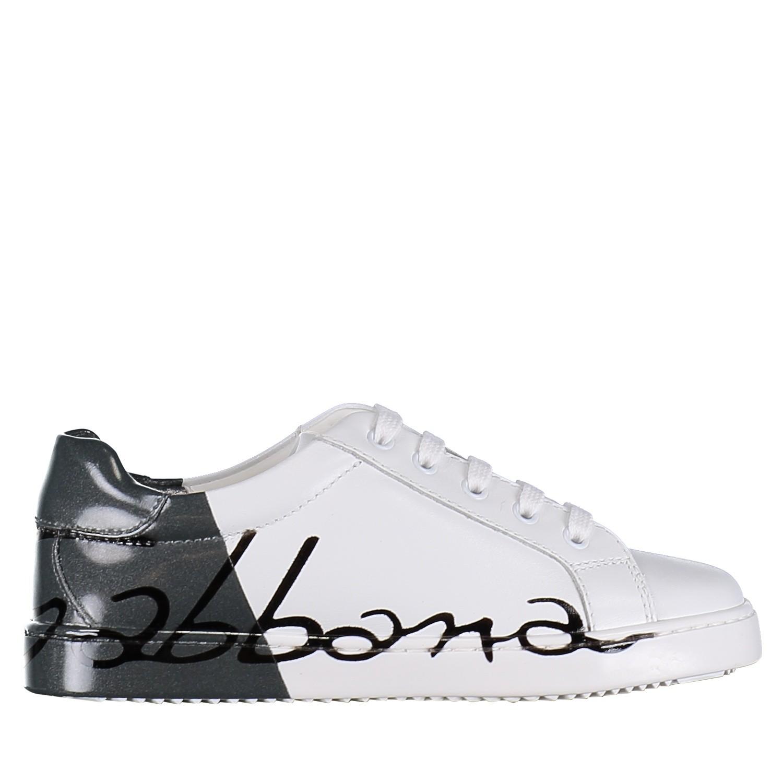 Picture of Dolce & Gabbana DA0608 AI053 kids sneakers white