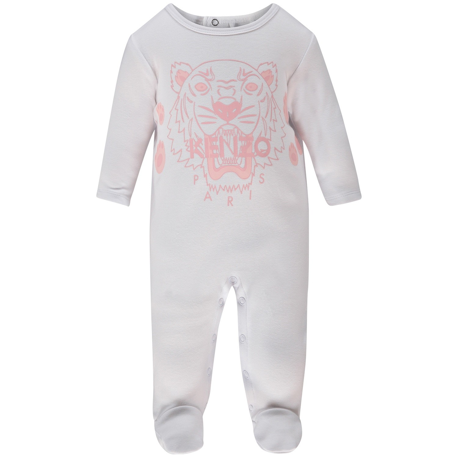 Picture of Kenzo KM54003 baby playsuit white