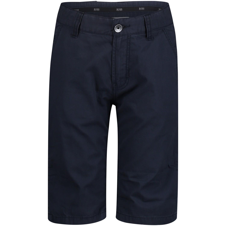 Afbeelding van Hugo Boss J24524 kinder shorts navy