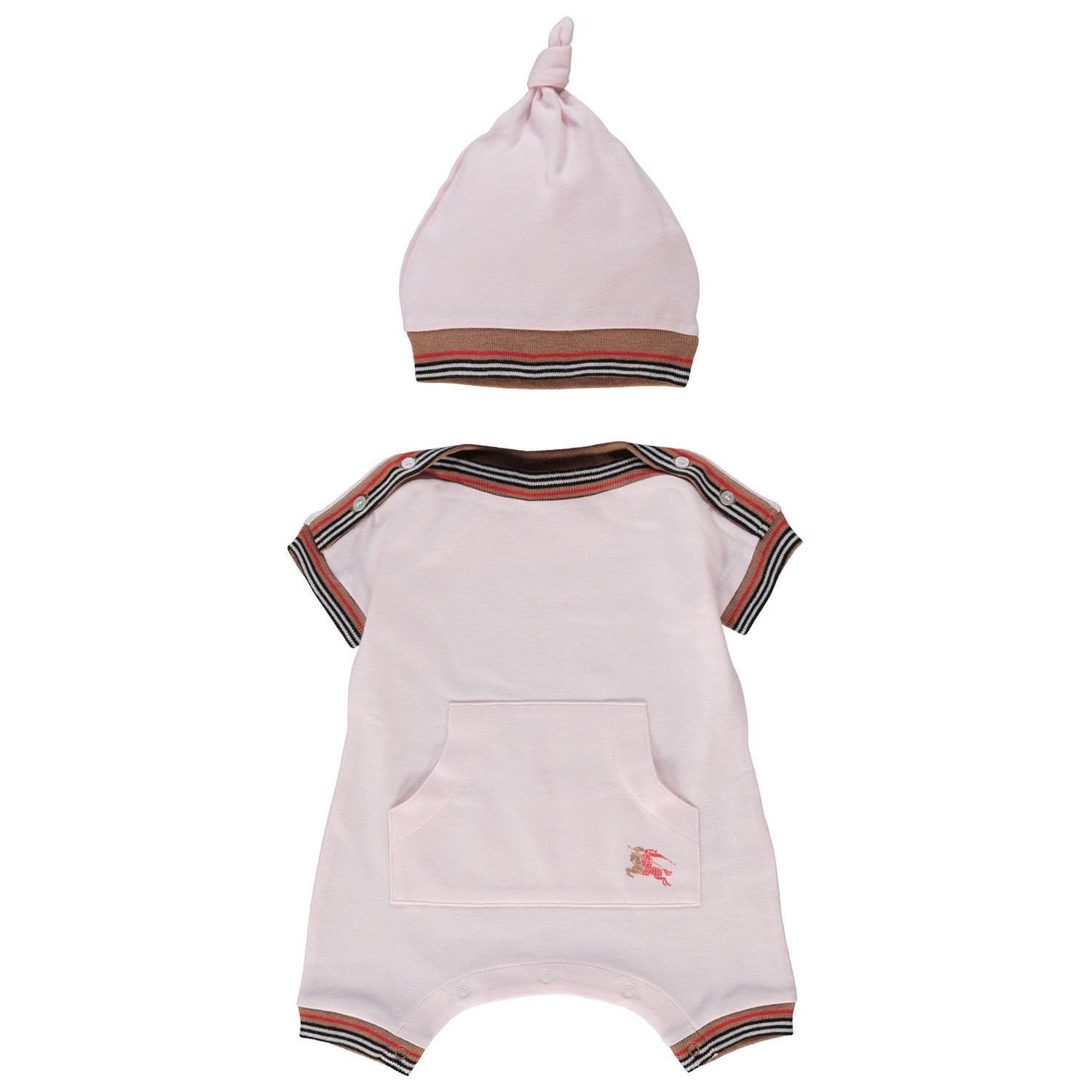 Picture of Burberry 8002859 baby playsuit light pink