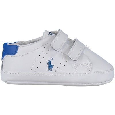 Picture of Polo Ralph Lauren RL100246 baby sneaker white