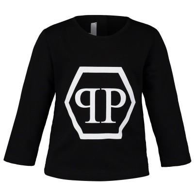 Picture of Philipp Plein ATK0009 baby shirt black