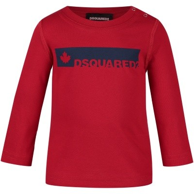 Picture of Dsquared2 DQ02XB baby shirt red