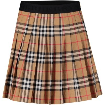 Picture of Burberry 8001706 kids skirt beige