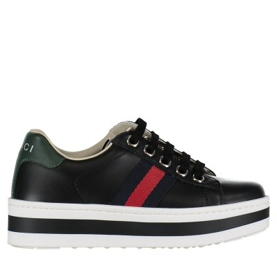 Picture of Gucci 526158 kids sneakers black