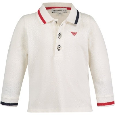 Picture of Armani 6ZHF02 baby poloshirt off white