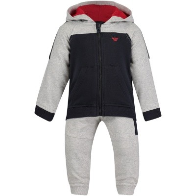 Picture of Armani 6ZHV01 baby sweatsuit navy