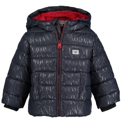 Picture of Armani 6ZHB02 baby coat navy