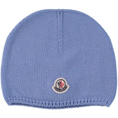 Picture of Moncler 9921305 baby hat light blue