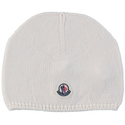 Picture of Moncler 9921305 baby hat off white