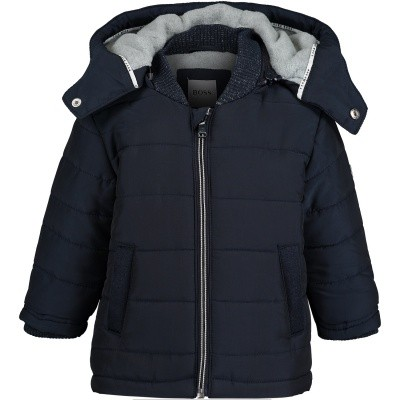 Picture of Boss J06185 baby coat navy