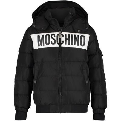 Afbeelding van Moschino HUS01R kinderjas zwart