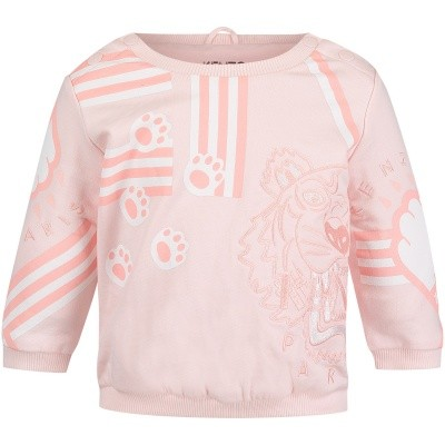 Picture of Kenzo KM15013 baby sweater light pink