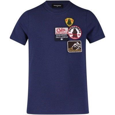 Afbeelding van Dsquared2 DQ02V2 kinder t-shirt blauw