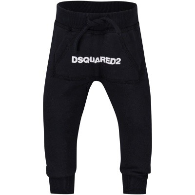 Picture of Dsquared2 DQ031N baby pants navy