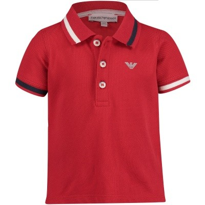 Picture of Armani 6ZHF01 baby poloshirt red