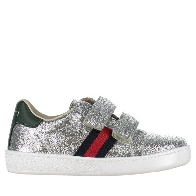 Picture of Gucci 463088 KUSU0 kids sneakers silver