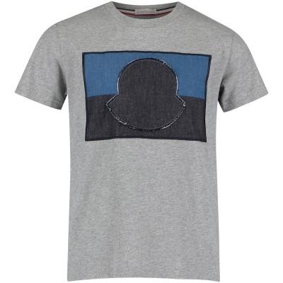 Afbeelding van Moncler 8018850 kinder t-shirt grijs