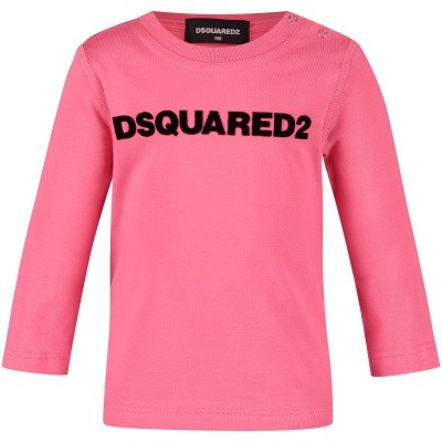 Picture of Dsquared2 DQ02ZQ baby shirt pink
