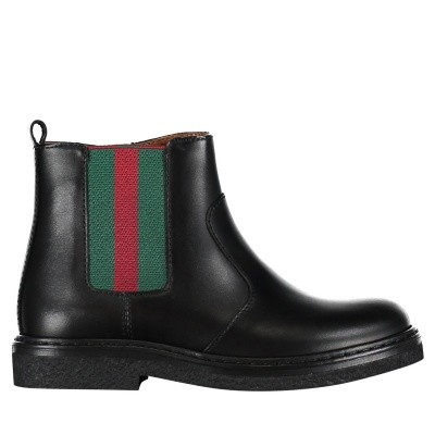 Picture of Gucci 433136 BMN60 kids boots black