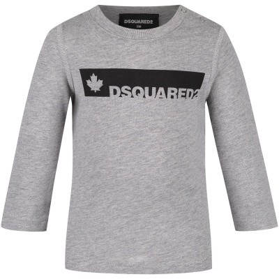 Picture of Dsquared2 DQ02XB baby shirt grey