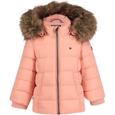 Picture of Tommy Hilfiger KG0KG03958B baby coat pink