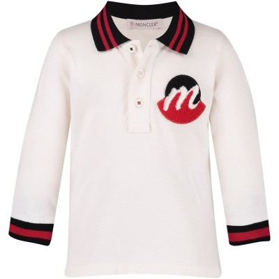 Picture of Moncler 8310205 baby poloshirt white
