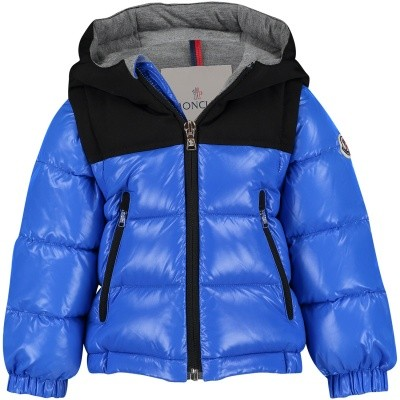 Picture of Moncler 4187585 baby coat cobalt blue