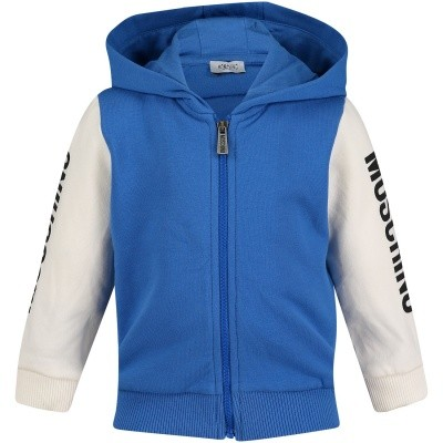 Picture of Moschino MOF00Q baby vest cobalt blue
