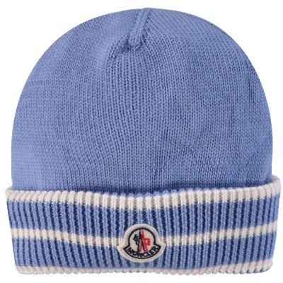 Picture of Moncler 9921105 baby hat light blue
