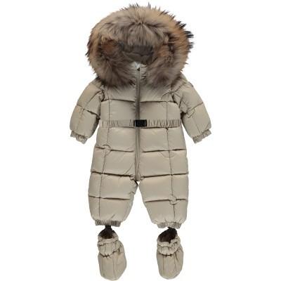 Picture of Moncler 1435525 baby snowsuit beige